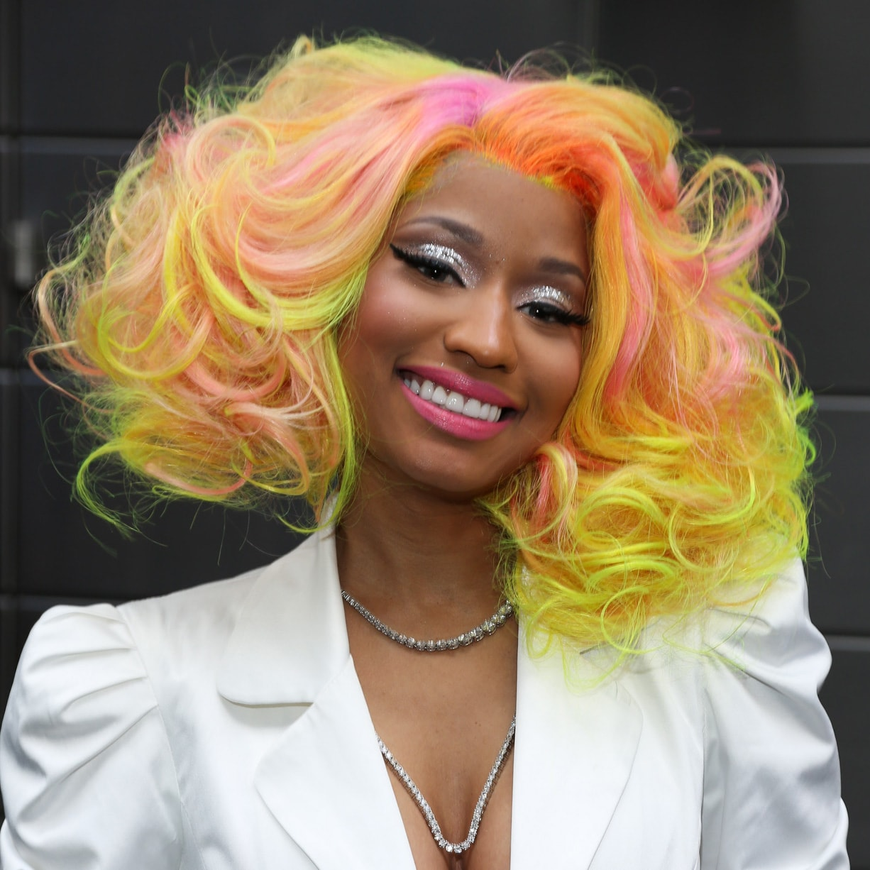 nicki minaj with yellow & orange