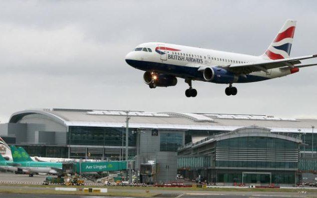 British Airways aircraft landing