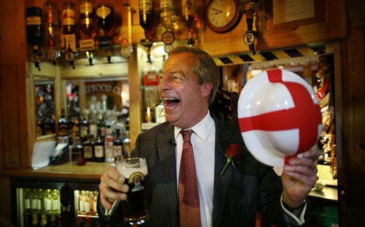 Nigel Farage in a pub in Margate