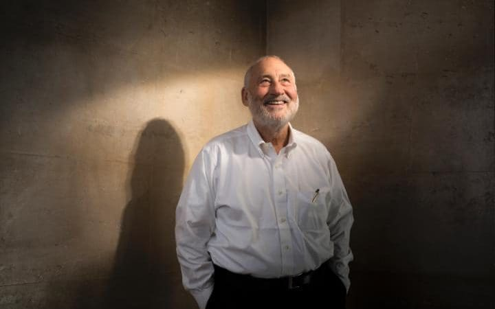 Joseph Stiglitz, author and economic guru of the political left