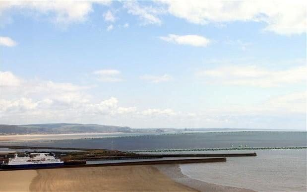 Artist's impression of the Swansea Bay tidal lagoon