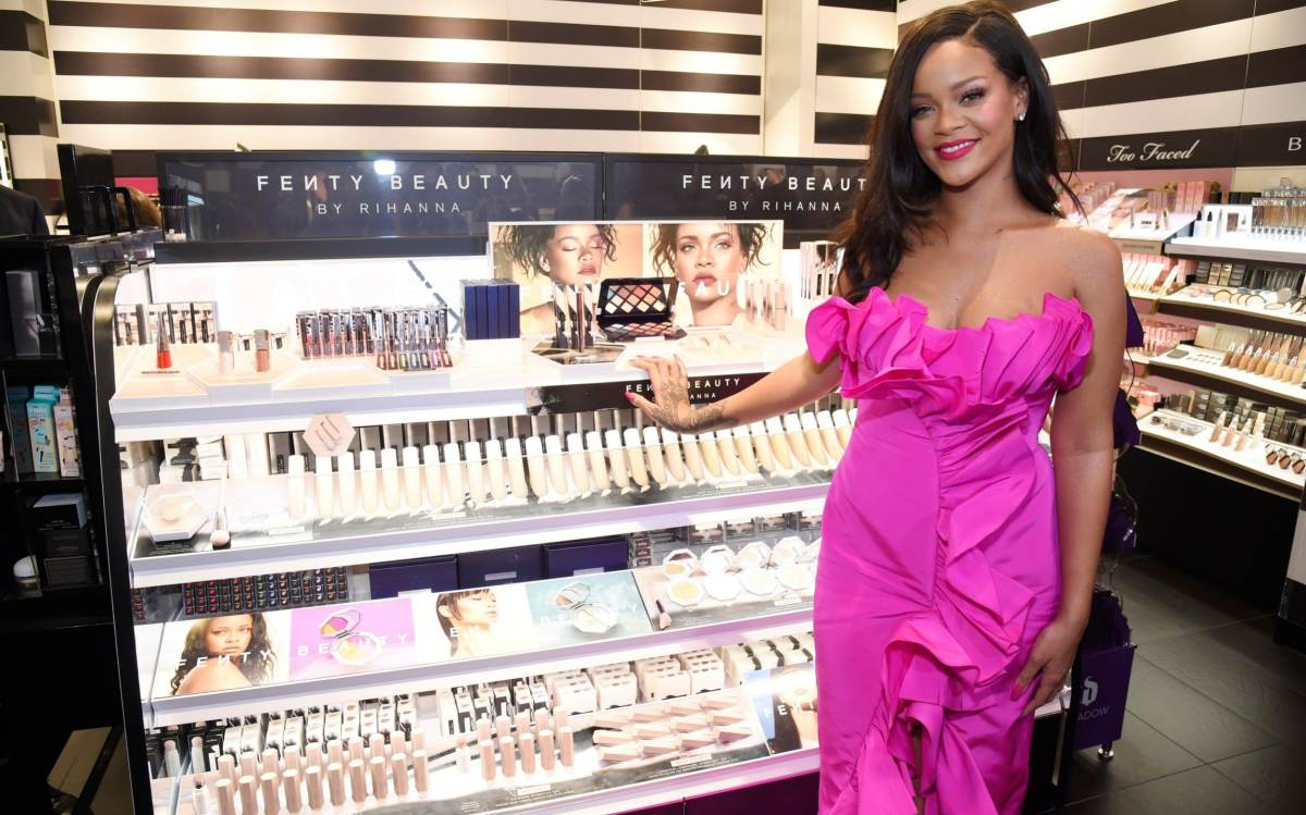 Rihanna attends Fenty Beauty's one-year anniversary at Sephora in New York in 2018