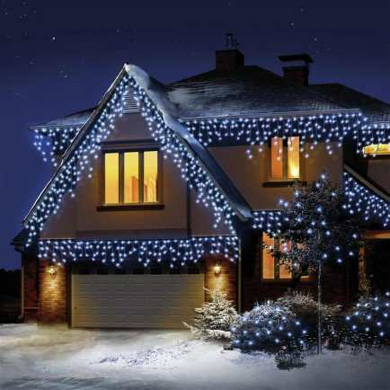 Luci natalizie a LED con ghiacciolo a neve