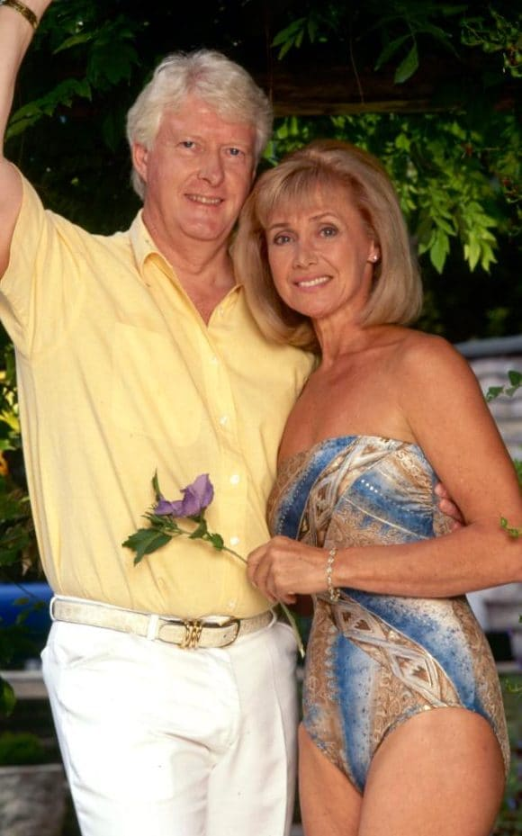 Former headmaster Chris Russell with his then wife Jan Leeming