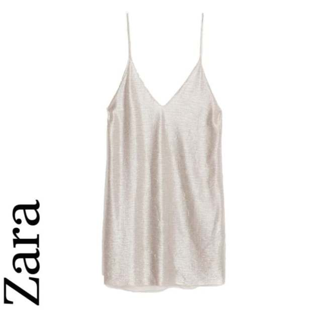 V-neck slip dress, ££25.99, Zara