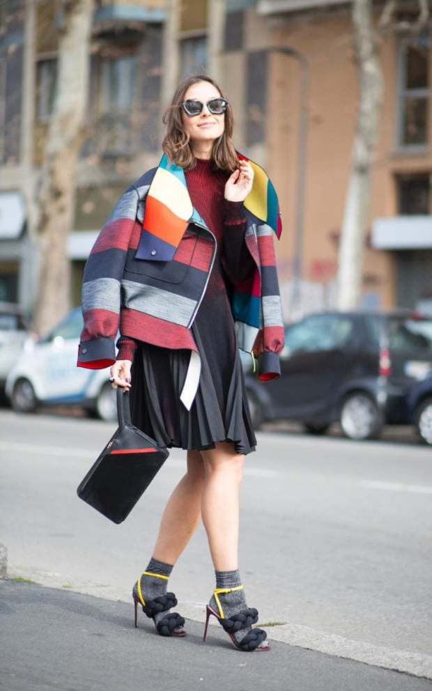 Give your outfit a sunny update with statement shades and a technicolour dream jacket