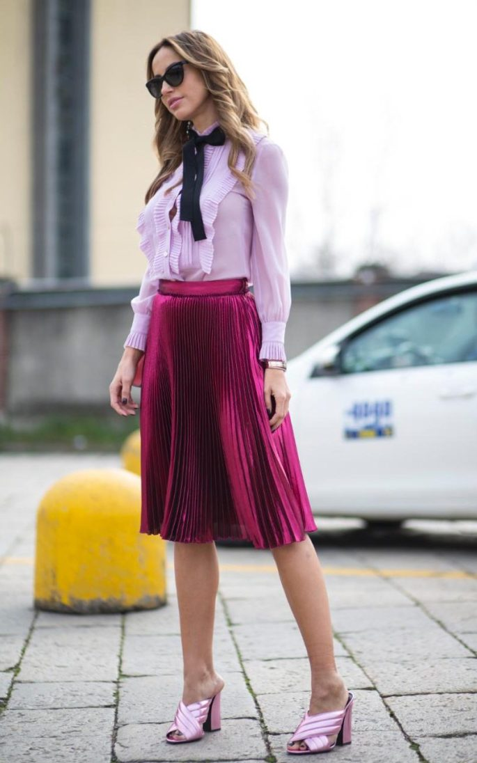 Take a tip from Gucci when creating colour combinations - this yummy lilac and raspberry ensemble looks good enough to eat