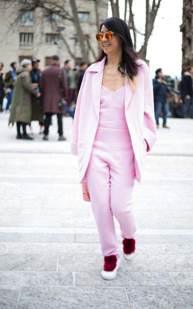 """Think """"Pink!"""" for a head-to-toe look that brings cheer to all who see you"""