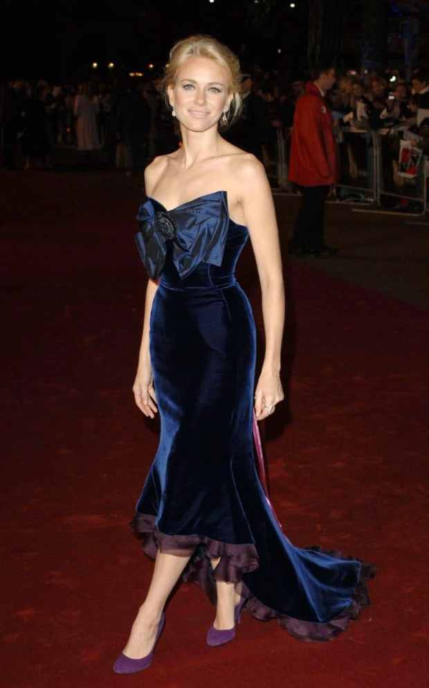 King Kong premiere blue velvet dress