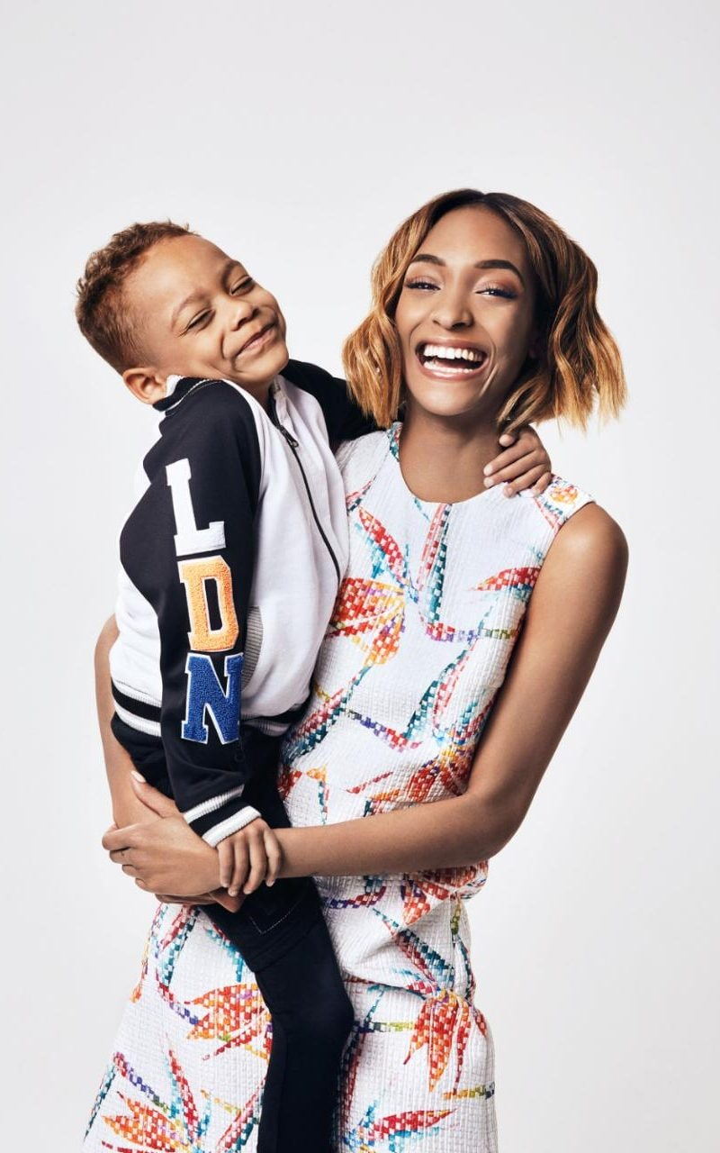 Supermodel Jourdan Dunn My Son Covers Me Up And Says Mums Aren T Meant To Be Sexy