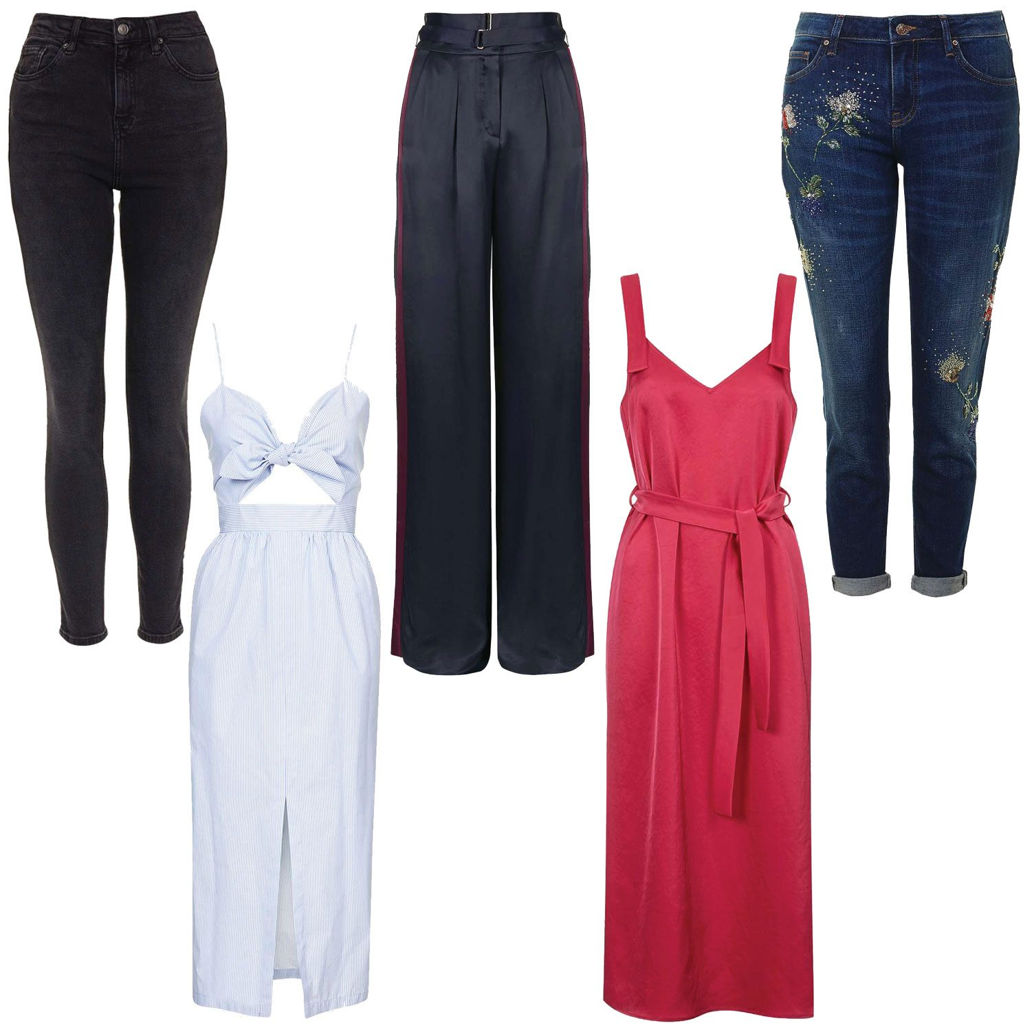 From left jeans dress trousers all topshop tall boutique embellished also how to when you  re  girl rh telegraph