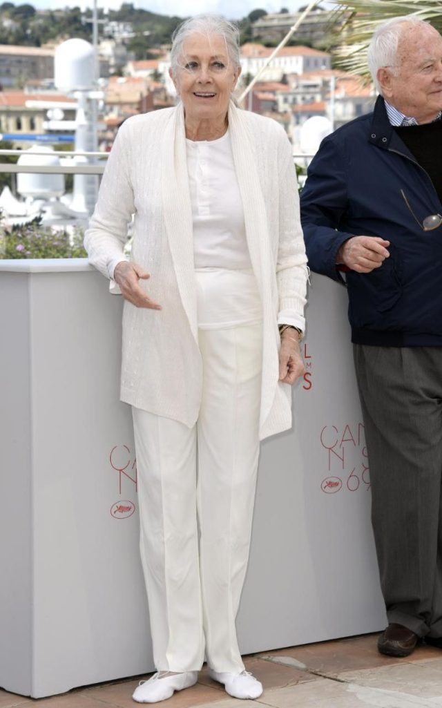 Vanessa Redgrave at Cannes in May 2016