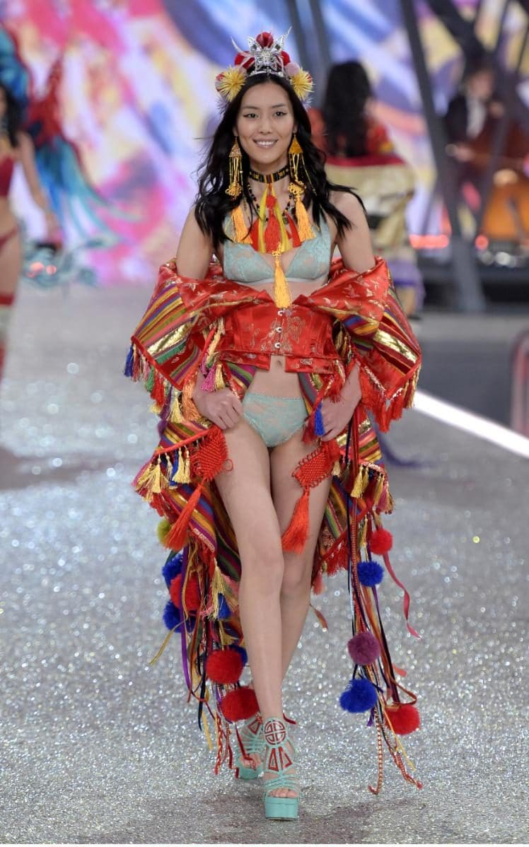 There were a record number of Asian models on the 2016 Victoria's Secret catwalk, including Liu Wen