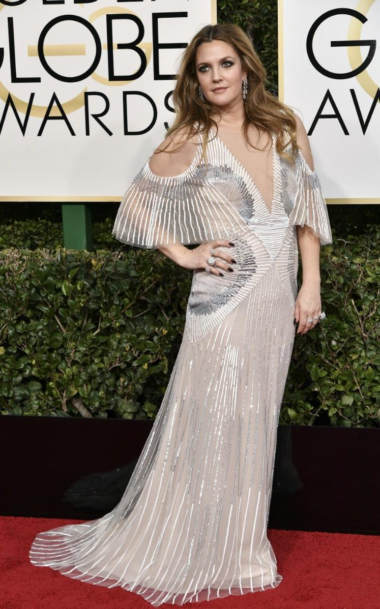 Image result for drew barrymore golden globes 2017