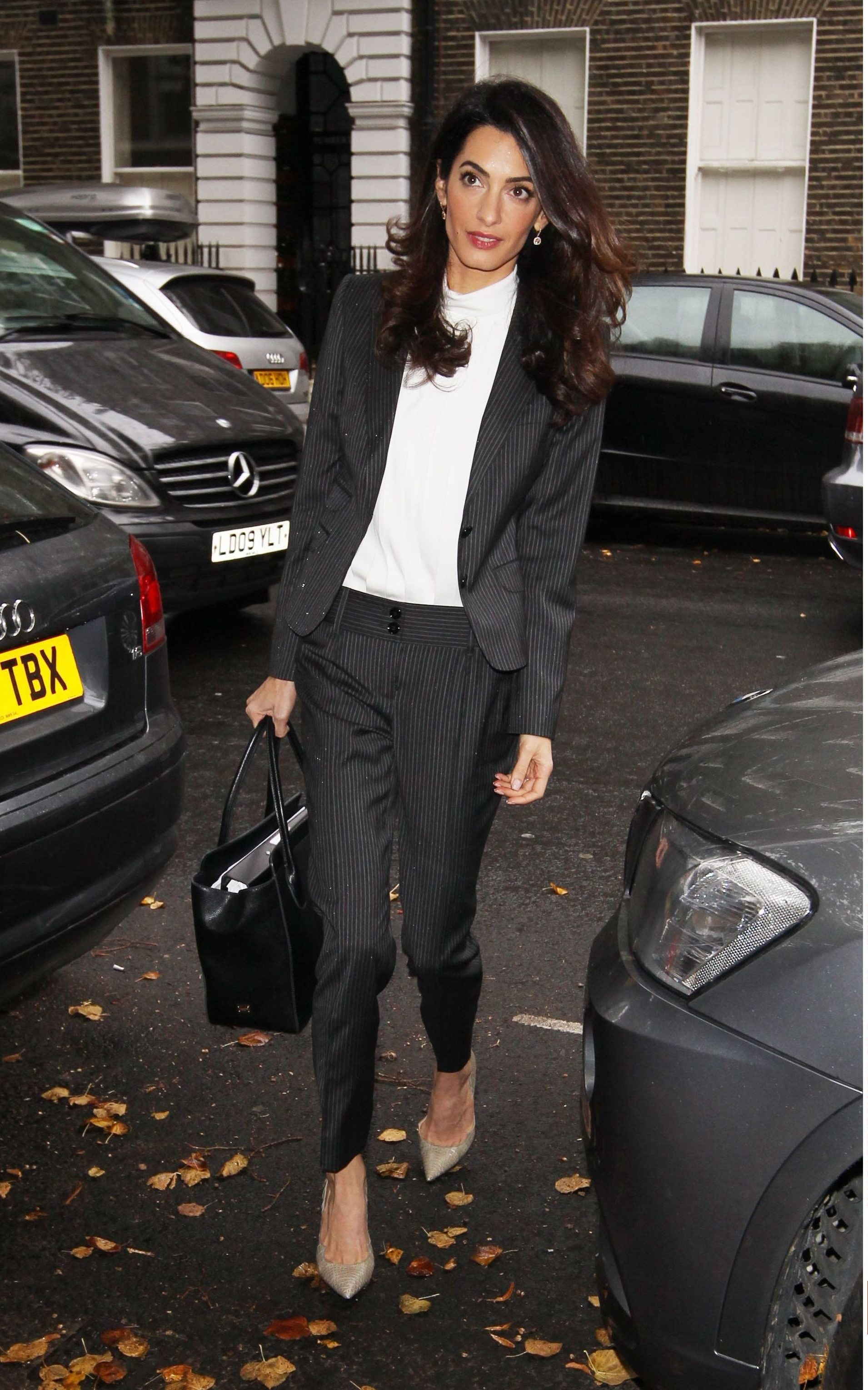 Amal Clooney wearing Dolce and Gabbana