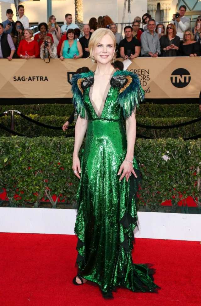 Nicole Kidman wearing Gucci at the SAG Awards, 2017