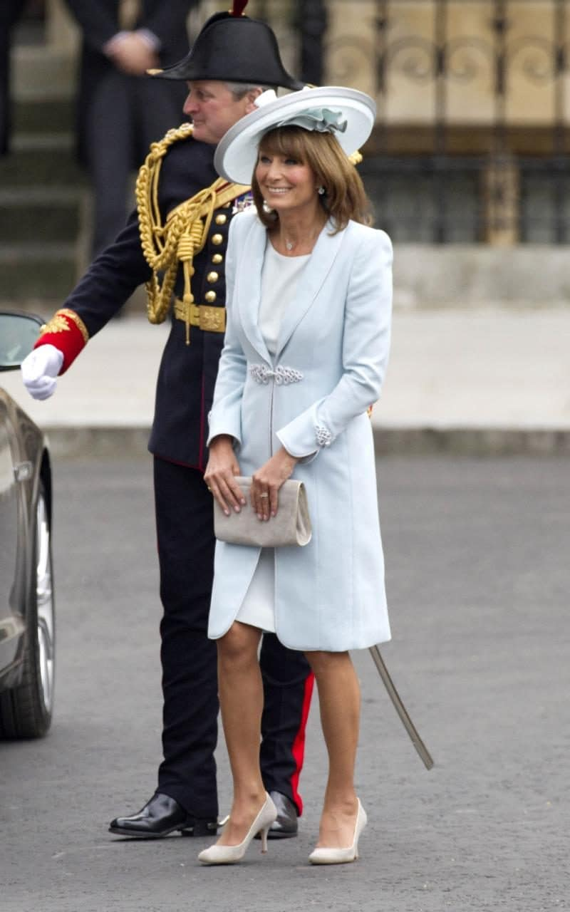 Carole Middleton at the Duke and Duchess of Cambridge's wedding, April 2011