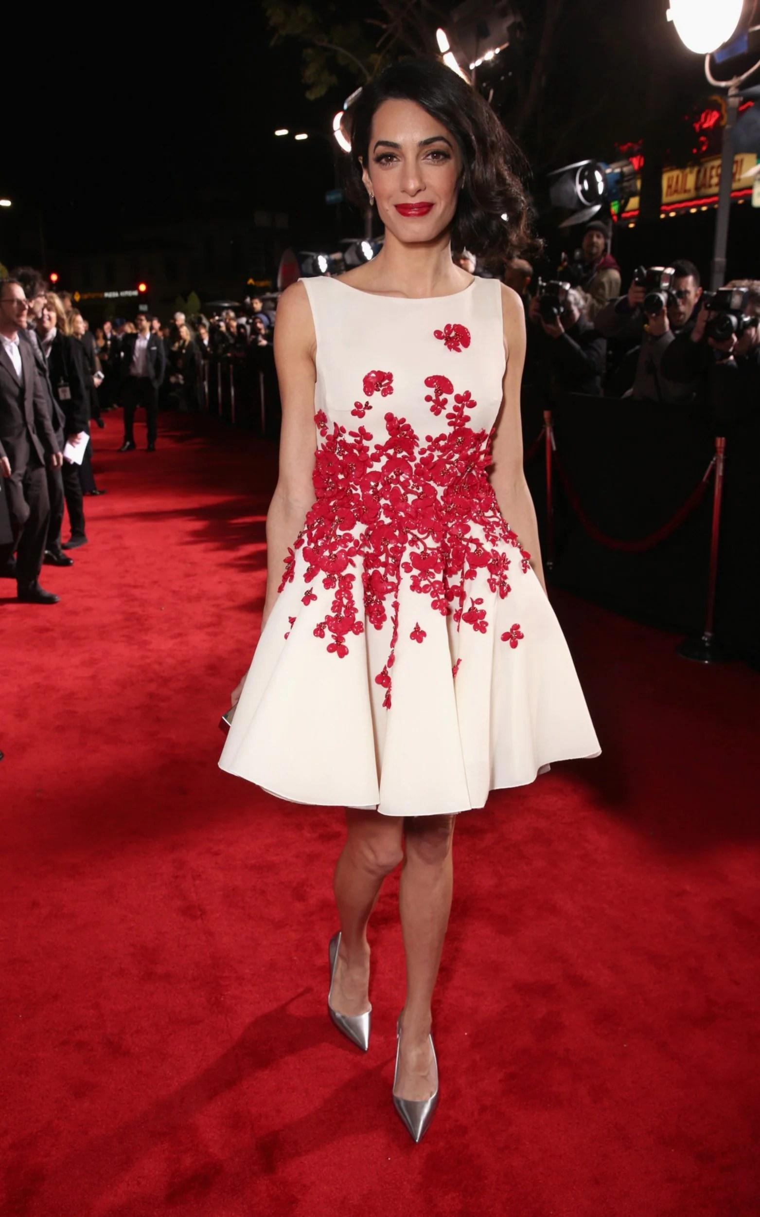 Amal Clooney wears Giambattista Valli