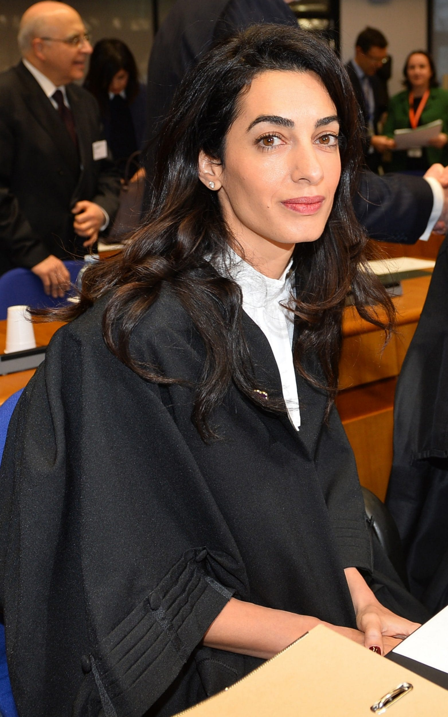 Amal Clooney in her barristers robes
