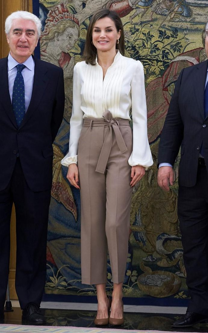 Queen Letizia of Spain does tonal dressing in Madrid  Fashion