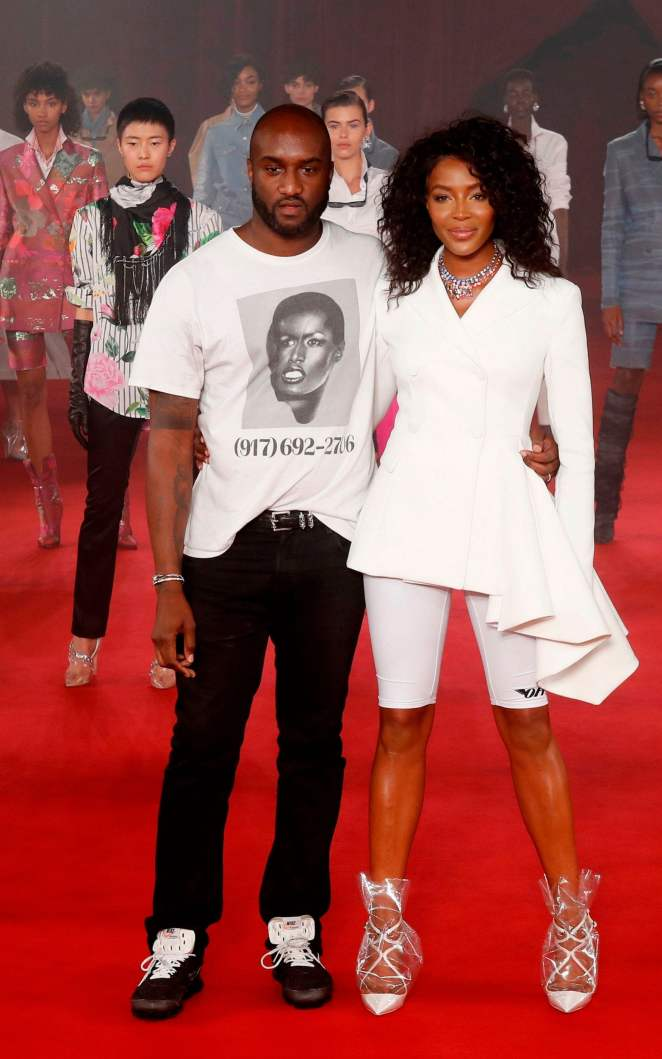 Virgil Abloh and Naomi Campbell