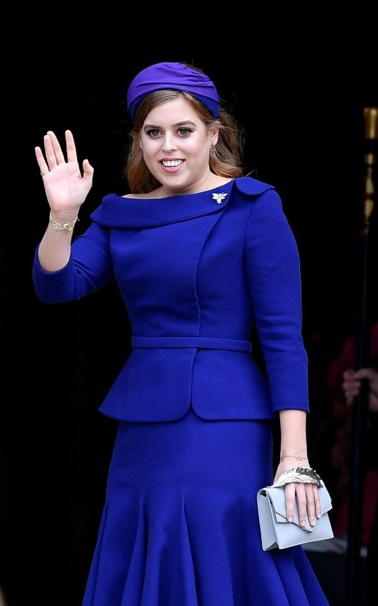 Princess Beatrice makes the maidofhonour look modern in Ralph and Russo at Princess Eugenies