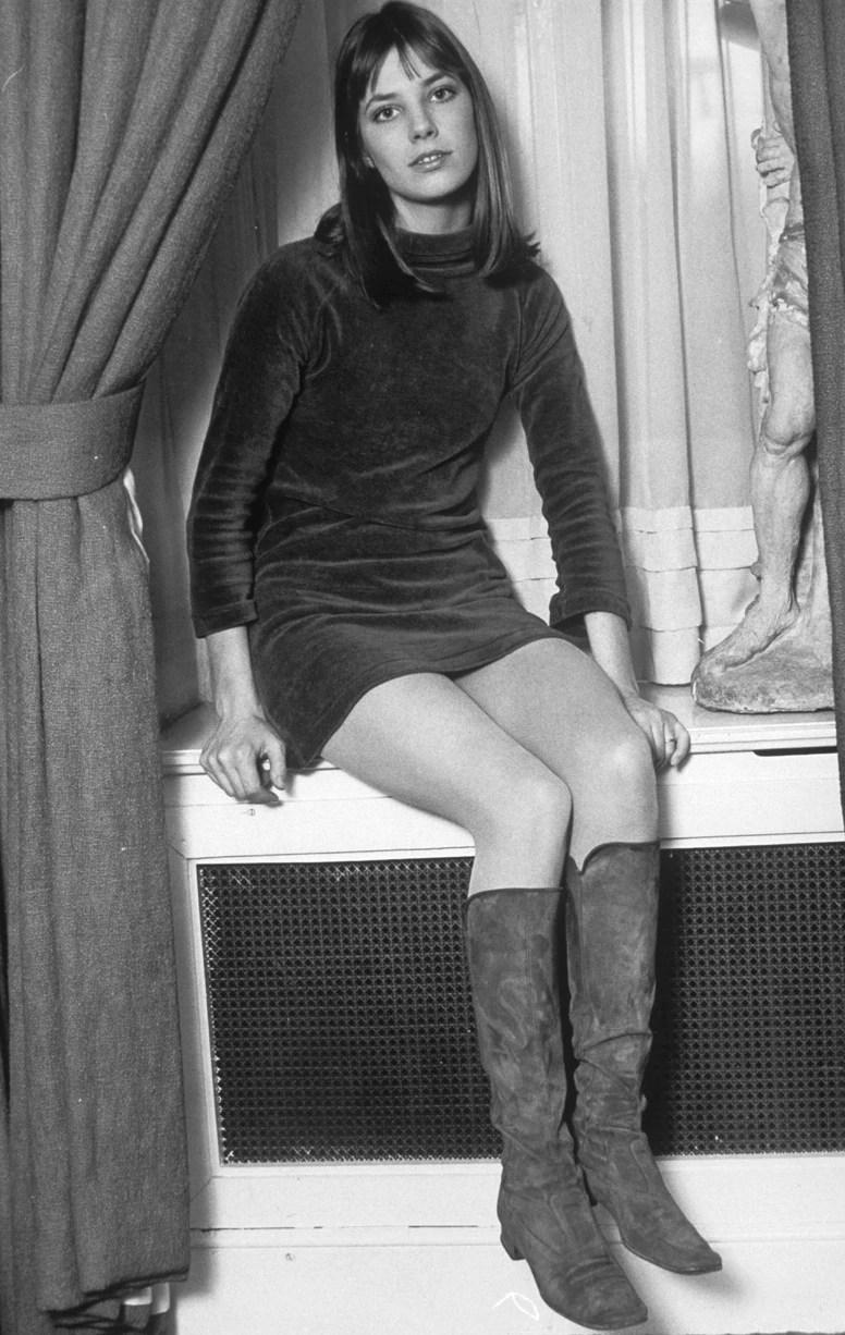 1968 minidress  boots  Jane Birkin fashion flashback