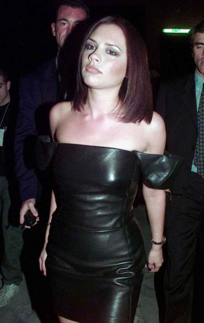 'Posh Spice' as she was fondly referred to, was a guest of honour at designer Donatella Versace's 'Versus' show