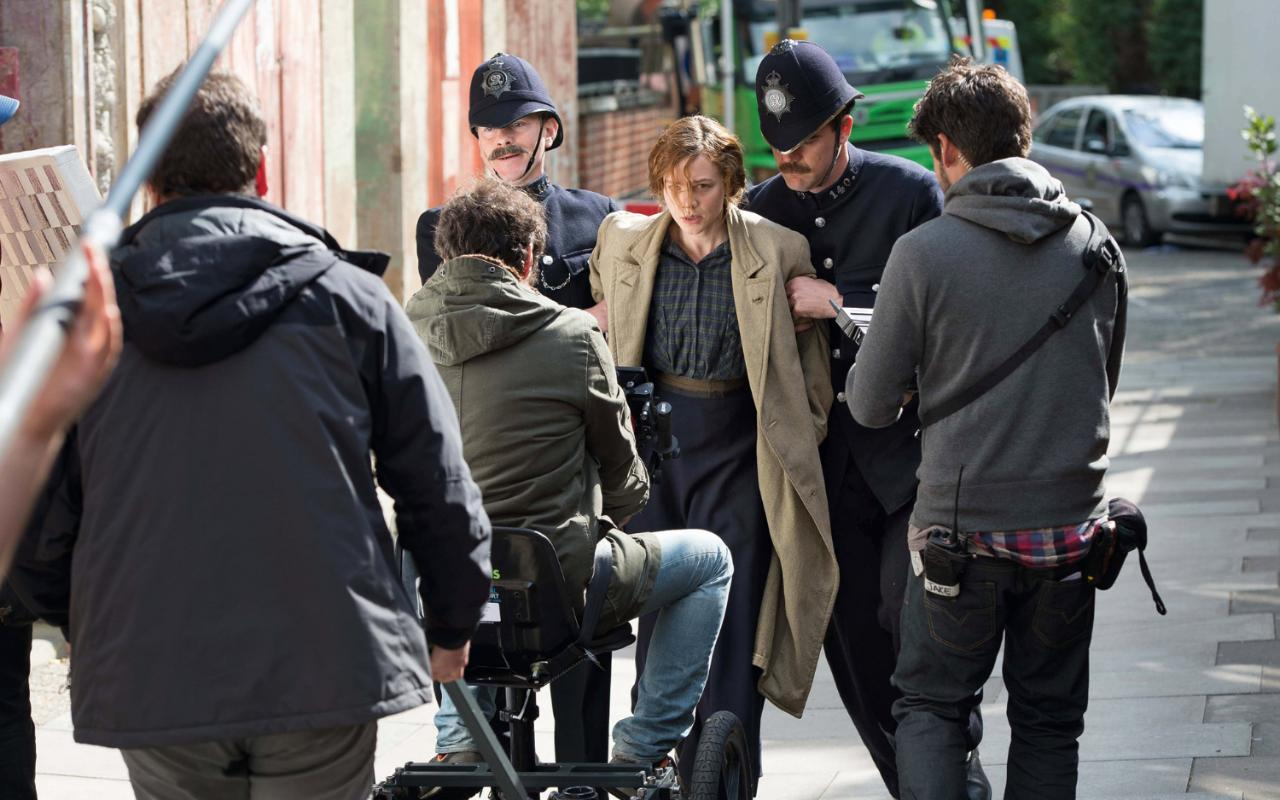 On the set of Suffragette forcefeeding police