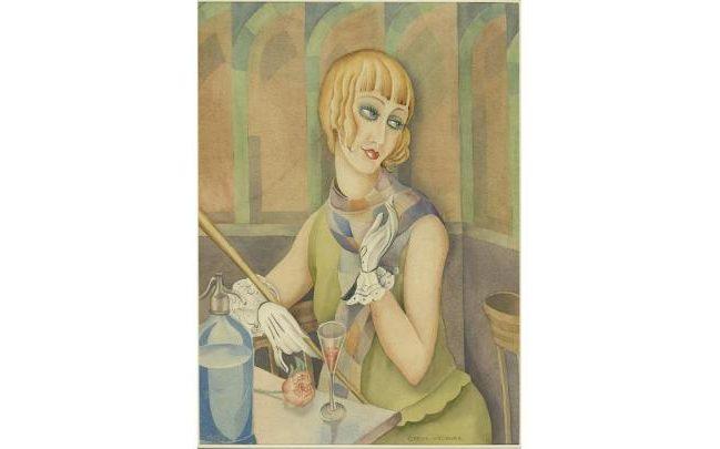 A portrait of Lili Elbe by Gerda Wegener, a watercolour from 1928