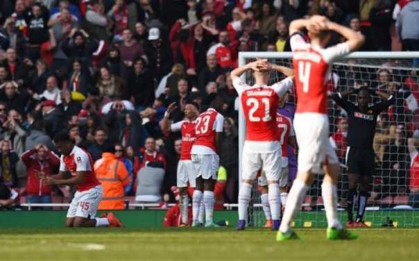 Arsenal players rue missed chance