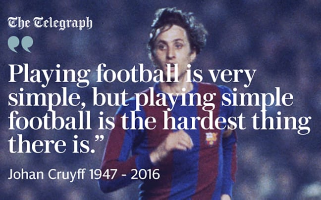 Johan Cruyff simple football  Johan Cruyffs greatest