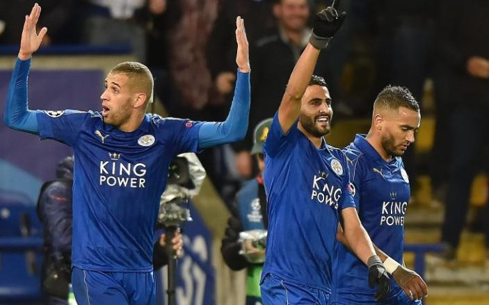 Image result for Riyad Mahrez strike gives Leicester perfect Champions League start