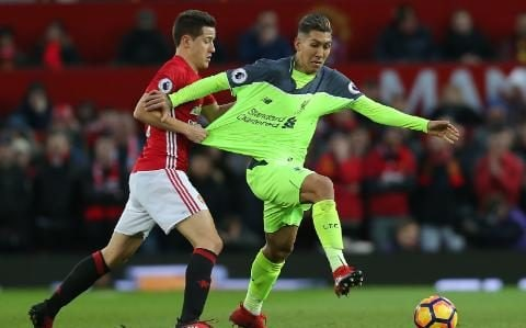 Firmino - Jurgen Klopp and Jose Mourinho in touchline spat as Liverpool manager questions Manchester United's hospitality