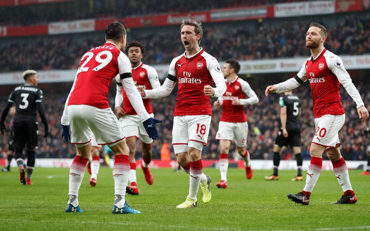 soccer team chairs tufted wingback chair leather arsenal 4 crystal palace 1 early blitz provides hope for