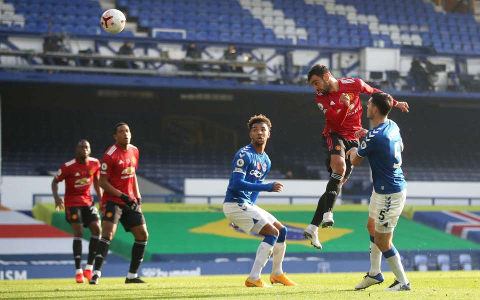 Bruno Fernandes double leads Man Utd to victory against Everton as players  prove they will still scrap for Solskjaer