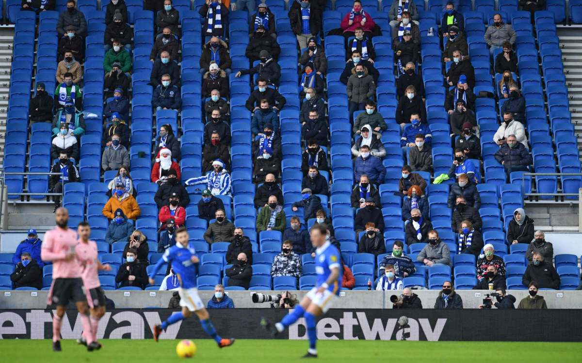 Only a few matches this season have been played in front of fans, with a reduced capacity