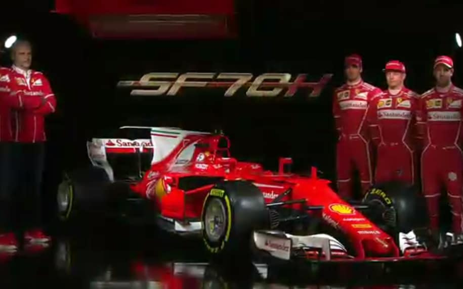 Ferrari F1 Launch Kimi Raikkonen Gives New SF 70H Car Its