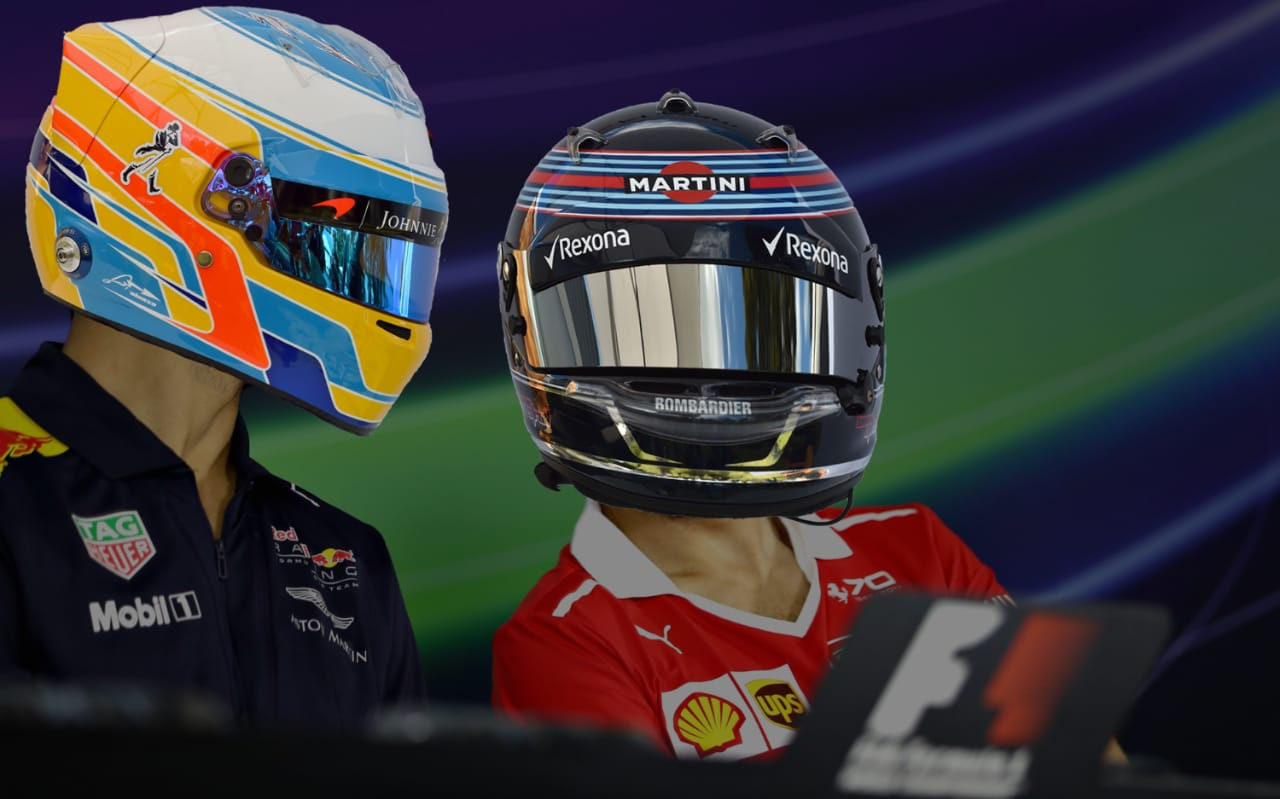 Can you match these F1 helmets to the right drivers