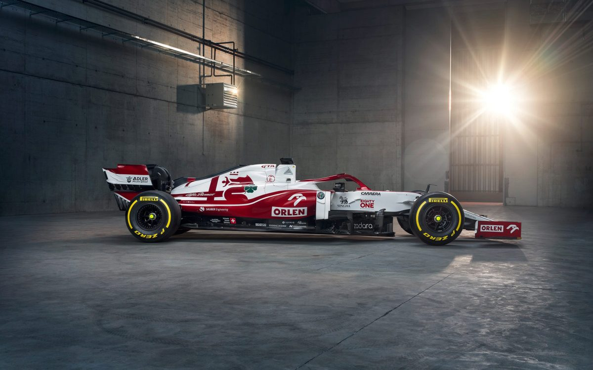 Alfa Romeo's F1 car for the 2021 season