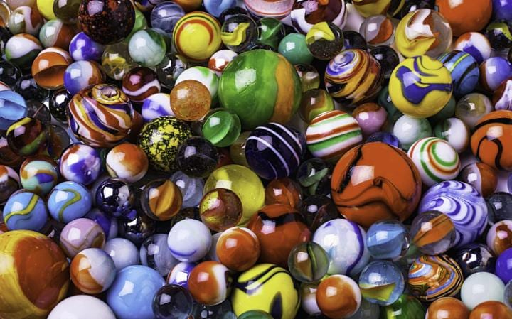 A pile of marbles