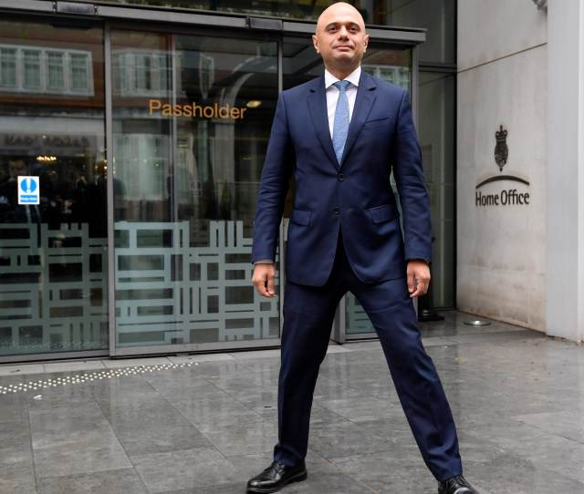 Sajid Javid Standing Outside The Home Office In What Has Been Described As The Power