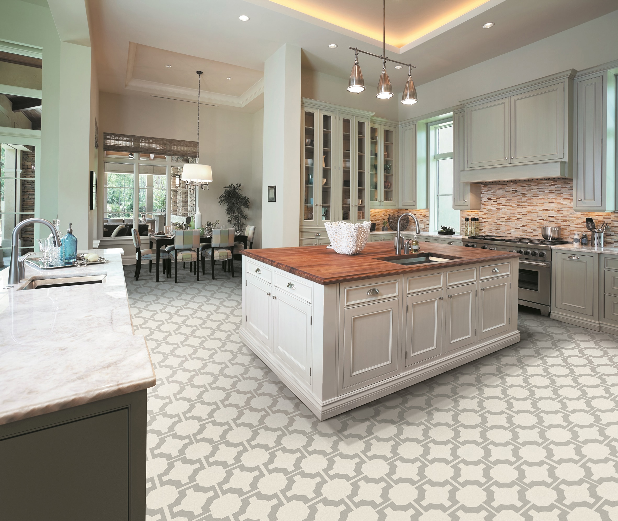 kitchen vinyl copper pendant light is this the ultimate in home flooring patterned by neisha crosland