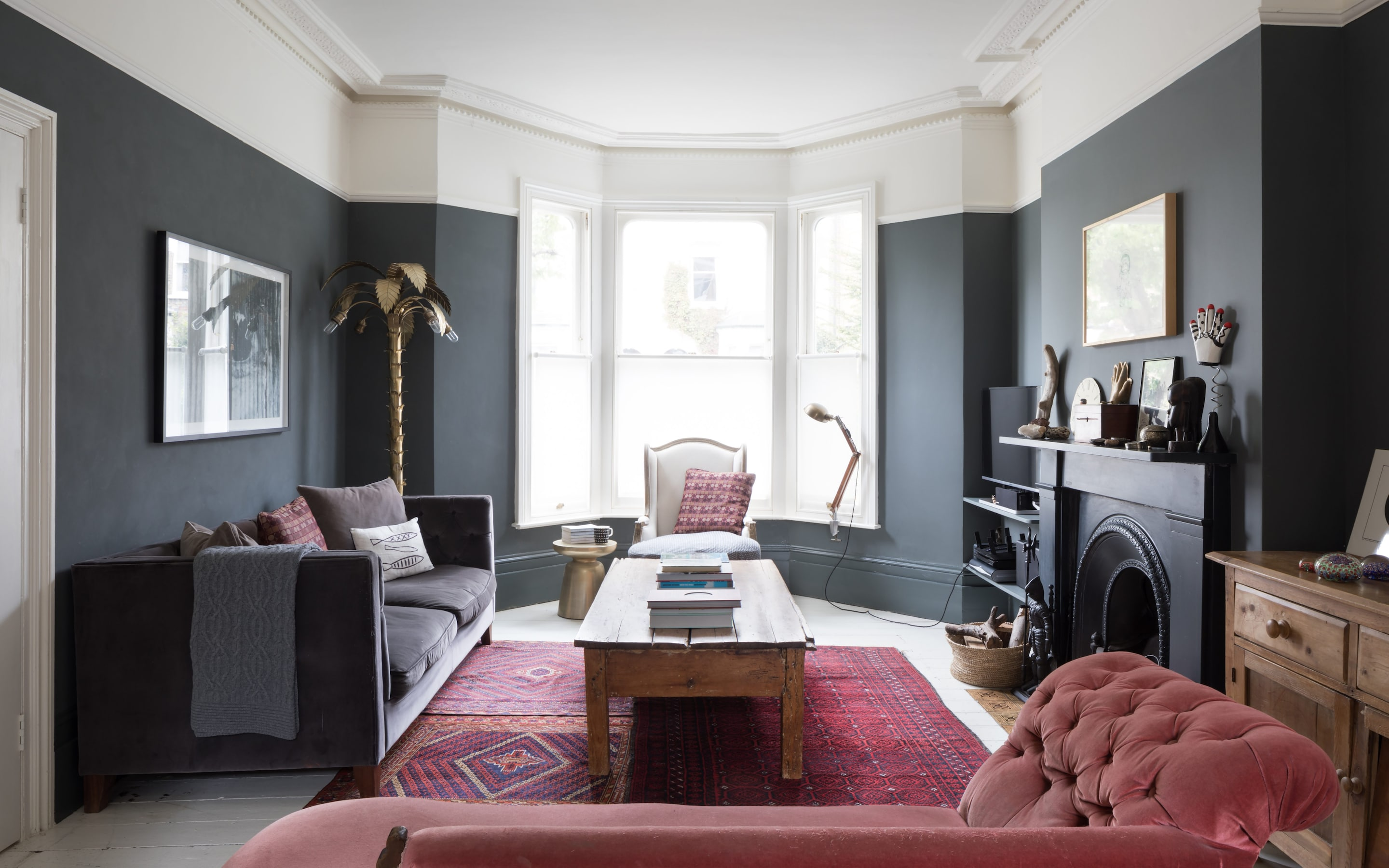 decorating ideas for living rooms with grey walls the room missoula mt 50 shades of inside top blogger kate watson smyth s london home is wall colour farrow ball down pipe and fireplace
