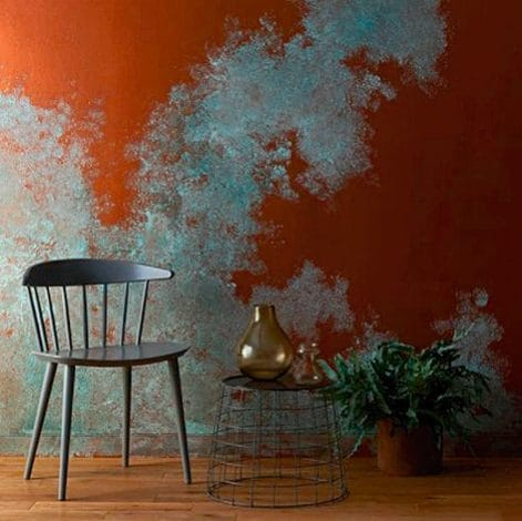 Craig & Rose's Copper Effect overlaid with the Copper Patina solution