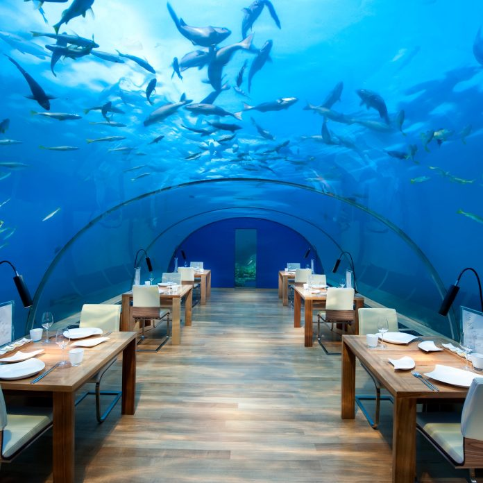 Image result for ITHAA UNDERSEA RESTAURANT, MALDIVES