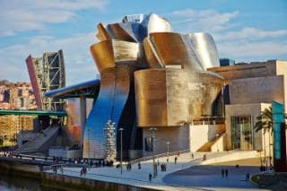The Guggenheim in Bilbao is hard to miss