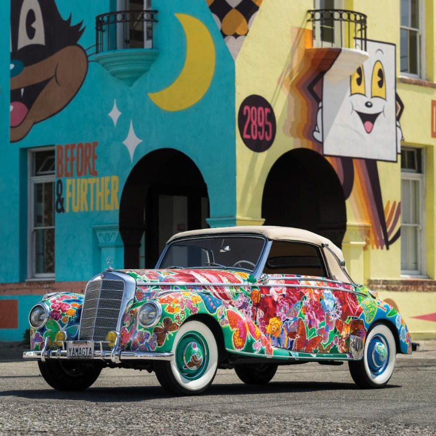 Bright Ideas A Vintage Mercedes 220A With Artwork By Hiro