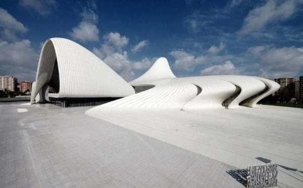The Heydar Aliyev Center in Azerbaijan was completed in 2013