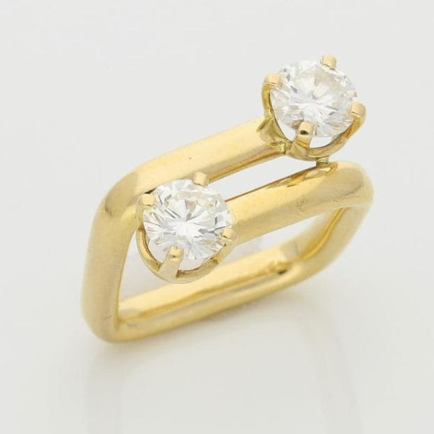 Dinh Van gold and diamond ring